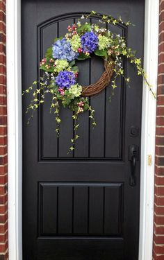 Spring Wreath Easter Wreath Summer Wreath Grapevine Door Wreath Decor