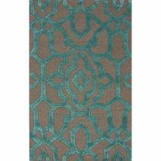 Handmade Marrakesh Grey Faux Silk/ Wool Rug (5' x 8') need a teal rug