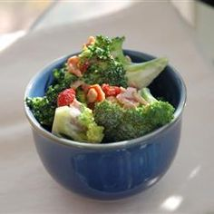 Alyson's Broccoli Salad Allrecipes.com It is so amazing you will wish you made a double batch! I make this all the time for get-togethers and never have left-overs. No joke!