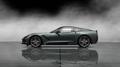 2014 Black Corvette Stingray Coup Side - car wallpaper pictures