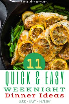 11 Quick & Easy Weeknight Dinner Ideas - your family will love these easy recipes that are perfect for crazy nights.  #dinner #recipe