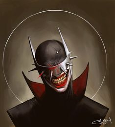 Quick painting of the batman who laughs. The Batman Who Laughs Batman Y Superman, Batman Dark, Batman The Dark Knight, Batman Comic Art, Batman Artwork, Cool Artwork, Dark Knights Metal, Batman Metal, Comic Villains