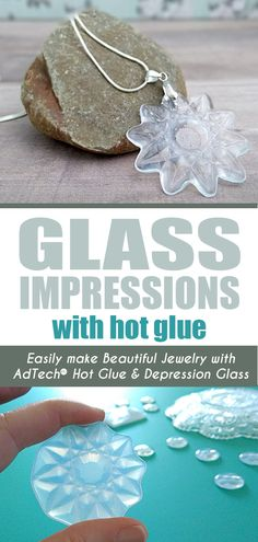 Jewelry Making Hot Glue Jewelry - Create stunning jewelry, charms and ornaments in just minutes using old glass dishes as molds! Glue Gun Projects, Glue Gun Crafts, Diy Glue, Art Projects, Gun Jewelry, I Love Jewelry, Jewelry Making, Ladies Jewelry, Craft Jewelry