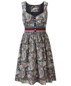 Joe Browns Pretty Flower Tea Dress - colourful and full of character. This abstract Paisley print combined with lovely florals makes a sophisticated, stand-out dress