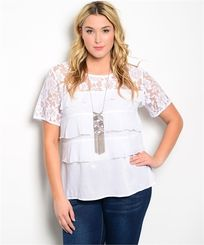 Lace and ruffle shirt White SHOP NOW FOR THE BEST SELECTION http://www.therusticshop.com/?store=westerncharm
