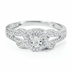 1/8ct TW Round Diamond Promise Ring in Sterling Silver - Promise Rings - Rings - Jewelry - Helzberg Diamonds