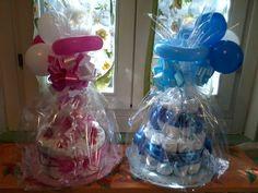 confezione regalo torte di pannolini