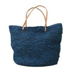 Large Straw Bag Straw Beach Bag Beach BagStraw Bag by MOOSSHOP, $34.95