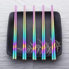 ChopRainbow™ - Premium Stainless Steel Rainbow 18/10 Chopstick Pair