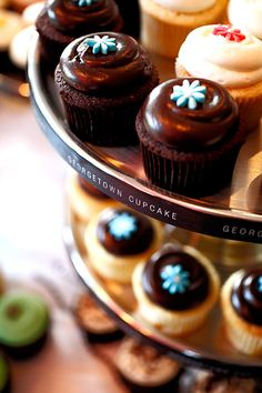 on my to Georgetown Cupcakes to try all those yummy cupcakes and avoid all that icky traffic! Cocktail Desserts, Köstliche Desserts, Delicious Desserts, Cocktails, Blueberry Cheesecake Cupcakes, Yummy Cupcakes, Georgetown Cupcakes, Cupcake Boutique, Good Bakery