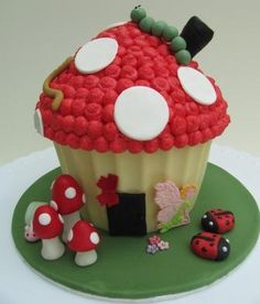 Another popular design - Toadstall Giant Cupcake