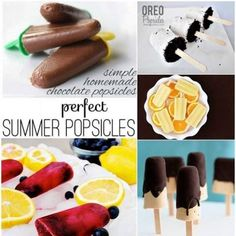Delicious and Easy to Make Popsicles