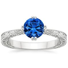 18K White Gold Sapphire True Heart Ring from Brilliant Earth