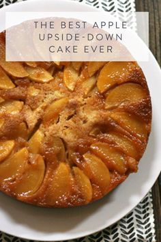 The best apple upside-down cake ever. Pineapple's are great, but apples are in season. This delicious cake takes next to no time to make and is the perfect dessert to bring to Thanksgiving dinner this year.