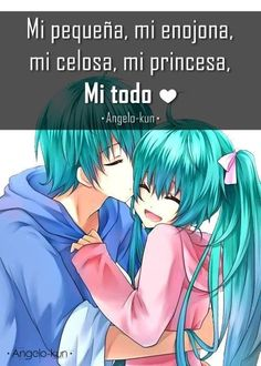 Amor Quotes, Love Quotes, Cute Spanish Quotes, Kirito Asuna, Qoutes About Love, Anime Love, Kawaii Anime, Cute Couples, Romance