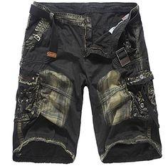 5e2f6aefe3d081 Zolimx Camouflage Shorts Männer Werkzeug Shorts Herren Mode Beiläufige  Taschen-Strand-Arbeit zufällige Cargo