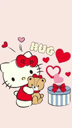 Hello Kitty Drawing, Hello Kitty Art, Hello Kitty Coloring, Hello Kitty Pictures, Hello Kitty Birthday, Sanrio Hello Kitty, Sanrio Wallpaper, Pink Wallpaper Iphone, Hello Kitty Wallpaper