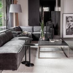 Rivièra Maison offers a complete living experience, with authentic products and diverse collections per year. Discover our furniture and accessories. Deep Couch, Couch Cushions, Upholstered Sofa, Fabric Sofa, Furniture Collection, Sectional Sofa, Living Room Decor, Home, Velvet