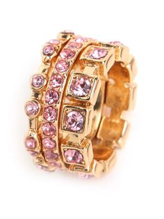 love these sparkly pink rings!!