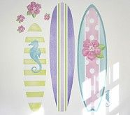 Pink Surfboard Decal Set