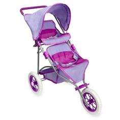 Maximize versatility in this You & Me Twin Jogger Stroller, a Toys R Us exclusive! Easily take up to two dolls for a stroll around the neighborhood, or just around . Baby Doll Strollers, Baby Jogger Stroller, Stroller Workout, Bb Reborn, Reborn Baby Dolls, Baby Doll Diaper Bag, Baby Doll Furniture, Baby Alive Dolls, Baby Doll Accessories