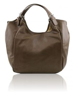 GINA TL140886 Leather hobo bag