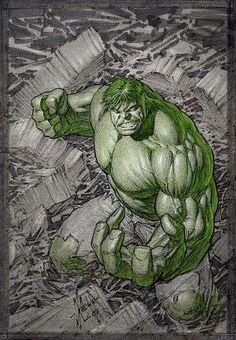 jack kirby hulk comic cover art | - Hulk #1 Cover Layout, in Frank Mastromauros Dale Keown Comic Art ...
