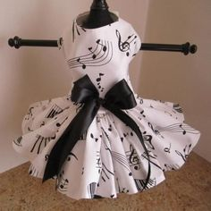 Black And White Symphony Dog Dress – Bark Label