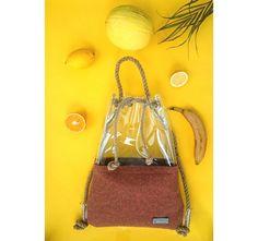 Foxy Bucket bag shoulder bag backpack bagpackfelt by YPSILONBAGS