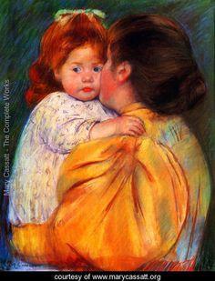 Maternal Kiss - Mary Cassatt - www.marycassatt.org