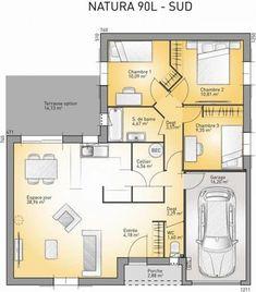 Plan De Maison Plein Pied Gratuit Chambres HOMEPLANS Pinterest - Plan maison plain pied gratuit 3 chambres