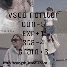Tổng hợp Công thức VSCO tông màu tối đẹp - Công thức màu