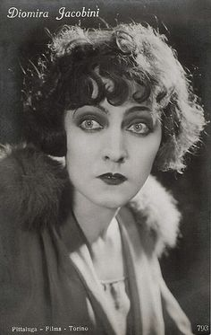 Diomira Jacobini. Italian postcard by Ed. A. Traldi, Milano, no. 793. Photo: Pittalu-Films, Torino (Turin).