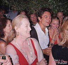 Meryl and the cast of Mamma Mia! at the Wrap Party