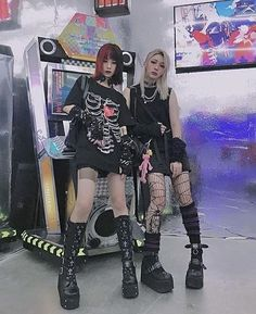 Edgy Outfits, Grunge Outfits, Grunge Fashion, Cool Outfits, Grunge Goth, Alternative Outfits, Alternative Fashion, Visual Kei, Aesthetic Grunge
