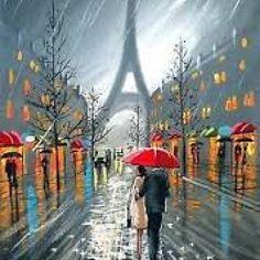 Explore collection of Paris Umbrella Painting Umbrella Painting, Umbrella Art, Couple Painting, Love Painting, Paris Kunst, Rain Art, Art Abstrait, Tour Eiffel, Love Art