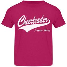 Cheerleader Ashley | Customize a really cute cheer design for your little cheerleader this year. Change the name to match your own child's. Great to wear to the game or to just play cheerleader in!