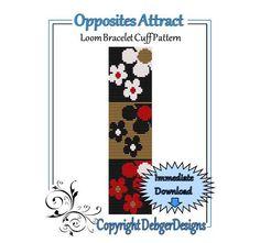 Bead Pattern Loom(Bracelet Cuff)-Opposites Attract