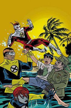 X-FORCE #118 Mike Allred, Pop Art, Comic Art Community, X Force, Character Sketches, Marvel X, Weird Art, Gotham City, New Wave