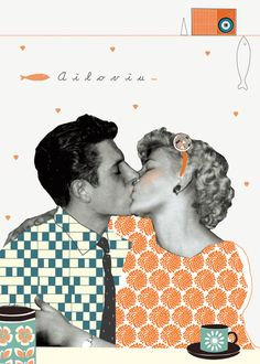 I'm in love with you (American retrò) : Affiches, illustrations, posters par lacasaapois Digital Collage, Photo Collage, Illustrations Posters, Photomontage, Graphic Illustration, Graphic Design Illustration, Retro, Collage Design, Collage Artists