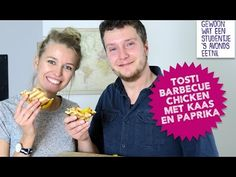 Video: Tosti barbecue chicken met kaas en paprika - Gewoon wat een studentje 's avonds eet