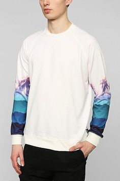 Deter Palm-Sleeve Pullover Sweatshirt urbanoutfitters