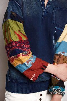 Anthropologie: from Kapital - Japanese denim house, sleeves of upcycled garments