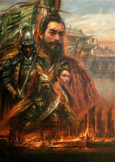 He Qing Art - paintings-Three_Kingdoms3