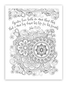 """FREE printable Christian, Religious adult coloring sheets w/ bible verses. Everyone says it is a great stress reliever! The finished projects always look so pretty and I have seen some framing them. I ordered coloring pencils from Amazon, nothing pricey. And Time Warp Wife offers a FREE printable design from her website every Friday!! You can find it under the Bible Study Resources """"Learning to Love"""" Study links. @timewarpwife"""