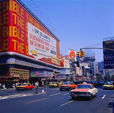 Times Square 1964 Victoria Theatre 1940s Vintage NYC Billboards