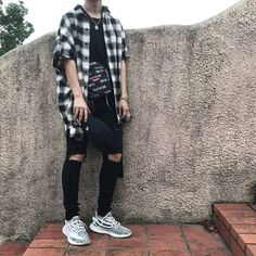 ** Streetwear daily - - - Click this picture to check out our clothing label ** Grunge Outfits, Grunge Fashion, Sneaker Outfits, Fashion Moda, Mens Fashion, Fashion Outfits, Guy Fashion, Tomboy Fashion, Stylish Outfits