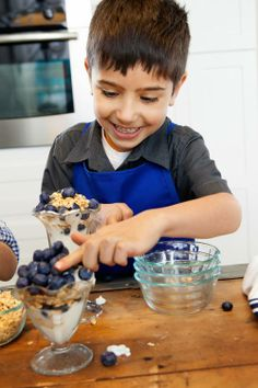 """""""Breakfast in a Glass"""" - An easy recipe for kids to make!"""