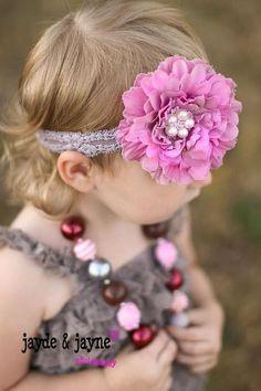 Baby Girl Headband Spring Headband Newborn by MudpiesandPigtails, $10.95