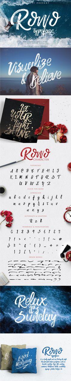 Rowo Brush Font - Befonts.com